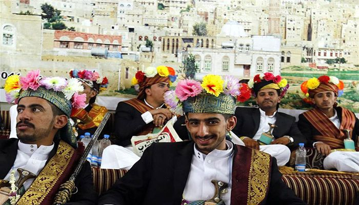 55 Yemeni grooms participate in mass wedding ceremony in Hababa. Photo: Collected