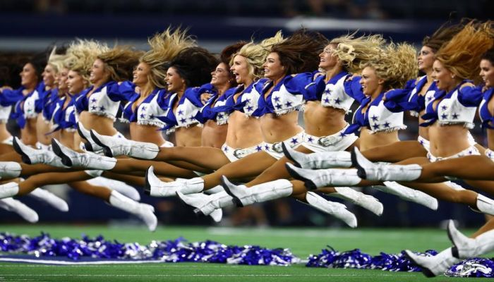 Dallas Cowboys cheerleaders perform prior to a game against the Houston Texans at AT&T Stadium in Arlington, Texas, August 24. Matthew Emmons-USA TODAY Sports. Photo: Collected