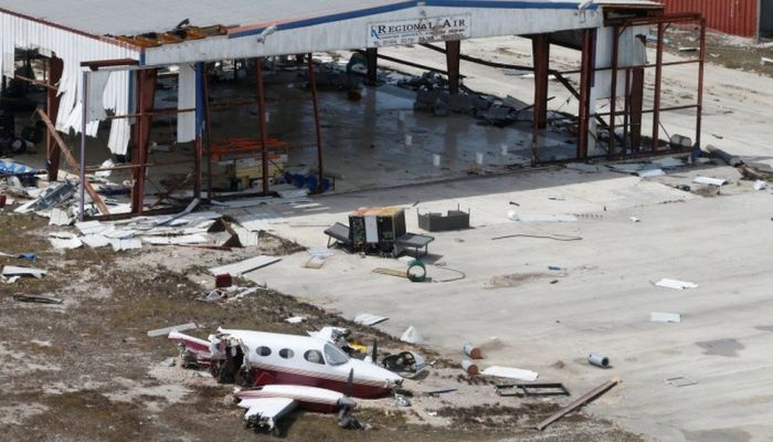 Dorian severely damaged the international airport on the island, hampering rescue efforts