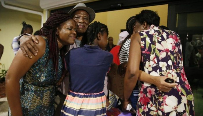 There was joy for some families as they were reunited in the capital, Nassau, after evacuations from the Abacos.