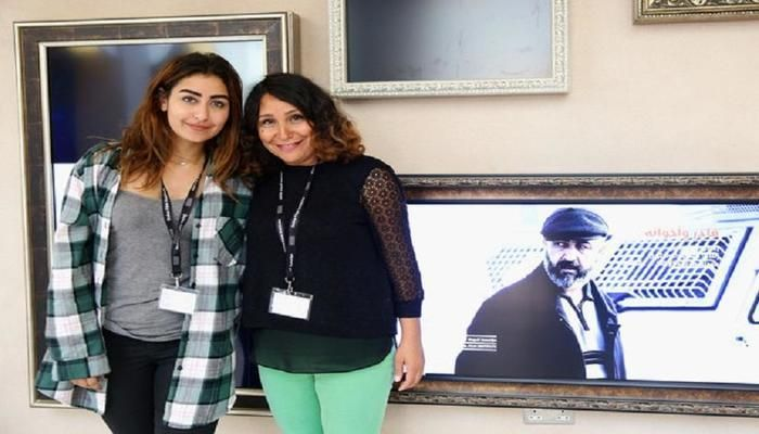 Female Saudi directors Haifaa Al-Mansour and Shahad Ameen at the Venice Film Festival. Photo- Collected