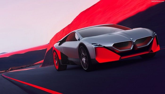 BMW Vision M-Next Concept  The BMW Vision M-NEXT is designed to be the replacement for the current generation i8 hybrid, and takes significant design cues from the BMW M1 and the Hommage concept, including the rear window louvres, flying buttresses on the C-pillars and a distinctive swoopy profile that brings back the 80s wedge in glorious retro fashion.