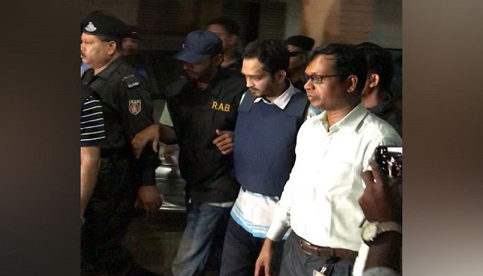 RAB detains Tarequzzaman Razib from a house at Bashundhara Residential Area in Dhaka on October 19, 2019