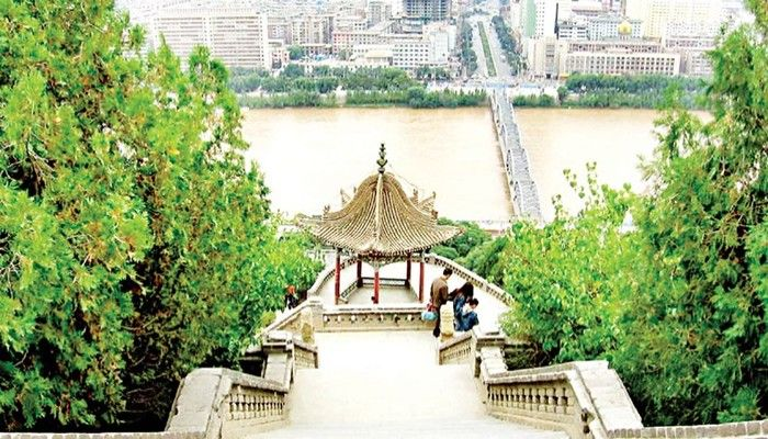 The Yellow River in Lanzhou seen from the park of the White Pagoda. Photo: Counter Punch