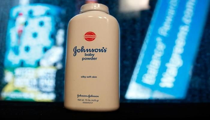 A bottle of Johnson & Johnson`s Baby Powder is seen in a photo illustration taken in New York, February 24, 2016. REUTERS