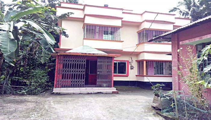 The house in Cumilla where Samrat was arrested yesterday. Photo: Collected