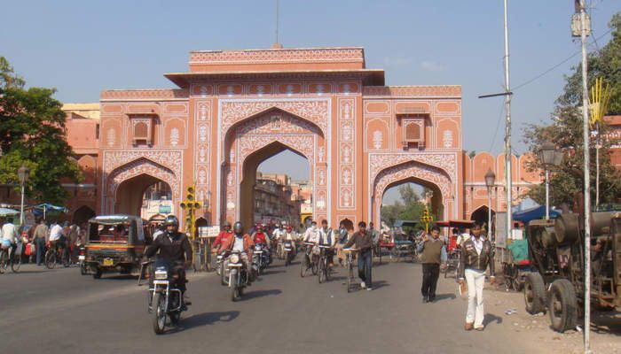 Jaipur City, Rajasthan, India: A fortified city, Jaipur was founded in 1727 and built according to a grid plan.
