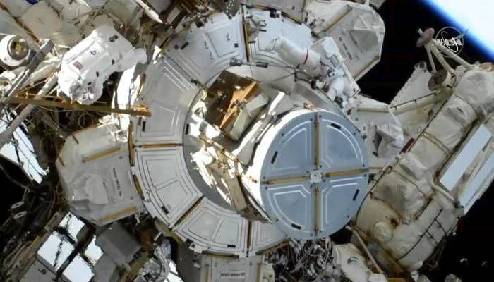 Spacewalking Astronauts Wrap-Up Battery Improvements