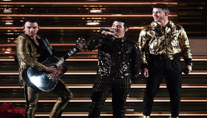 The Jonas Brothers perform onstage. Photo: Collected from AFP