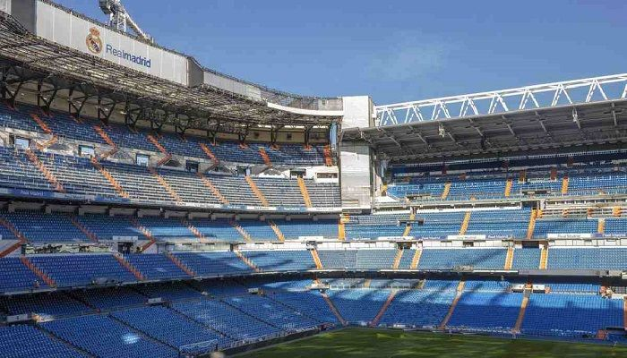 General view of the Santiago Bernabeu stadium in Madrid, Spain. Photo: Collected from AP