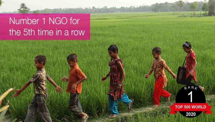 Brac Number 1 NGO in World for Fifth Consecutive Year