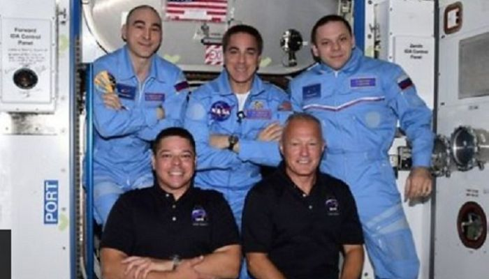 Astronauts on Historic Mission Enter Space Station