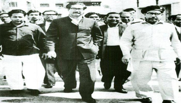 Sheikh Mujib to be taken to Dhaka Cantonment Special Tribunal for Agartala conspiracy case || Photo: BBC Bangla