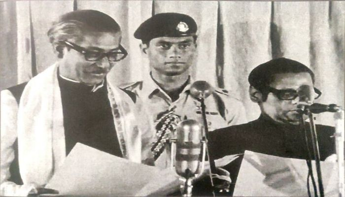 On 12 January 1972, Sheikh Mujir Rahman was sworn in as the first Prime Minister of independent Bangladesh || Photo: BBC Bangla