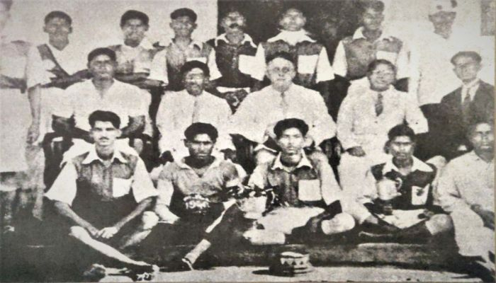 After winning a football tournament in 1940 || Photo: BBC Bangla