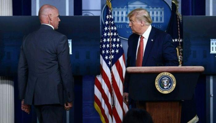 Trump Exits Briefing As Man Shot Near White House