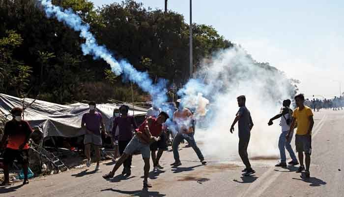 Migrants Tear Gassed in Greek Camp Protest