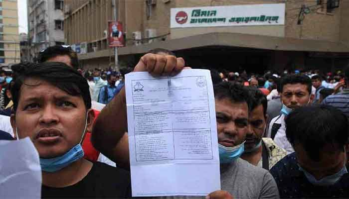 Expats Crowd Biman, Saudi Airlines Offices for Tickets