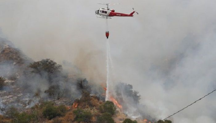 Six of the 20 largest fires on record in California have all occurred this year. Photo: Colected