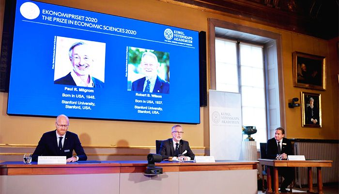 Paul R. Milgrom and Robert B. Wilson were awarded the Nobel in economic science on Monday for improvements to auction theory and inventions of auction formats. Photo: Collected