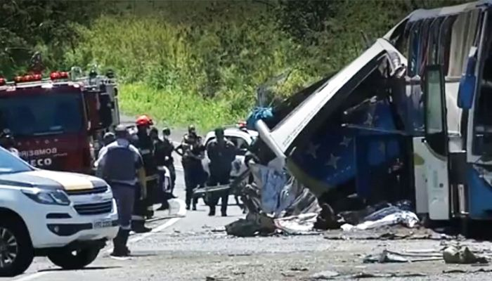 41 Killed As Bus-Truck Collide in Brazil