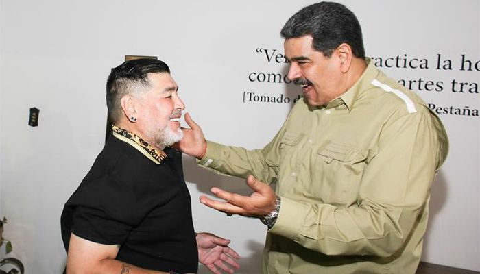 In January this year, Maradona met with Venezuelan President Nicolas Maduro in the Venezuelan capital, Caracas.