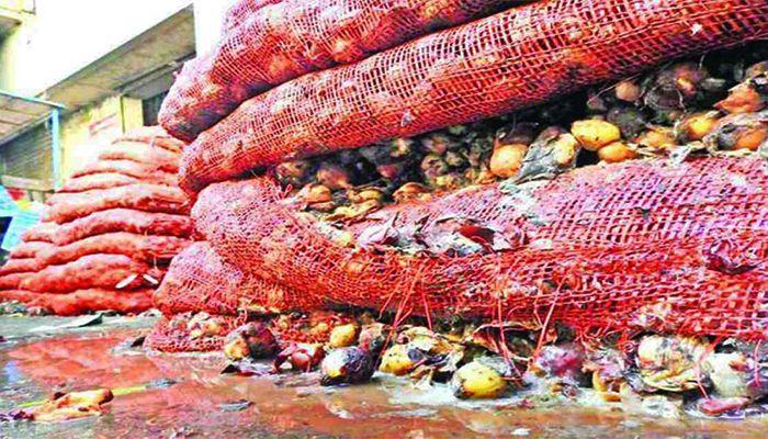 Rotten Imported Onions Dumped in Khatunganj