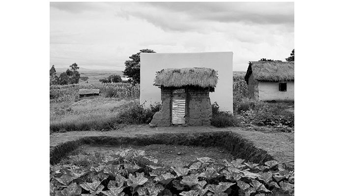 """Marie Lydia's toilet was built when almost everyone else in the village already had one. Marie said: """"We paid for our first ever toilet by ploughing other people's land."""" Photo: Elena Heatherwick/WATERAID"""