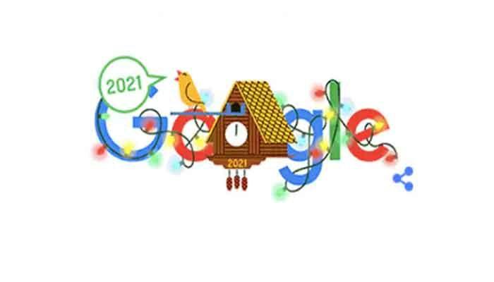 Google's 'Cuckoo Clock' Welcomes Year 2021