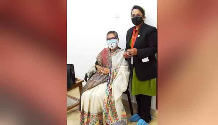 Sheikh Rehana Receives COVID Vaccine