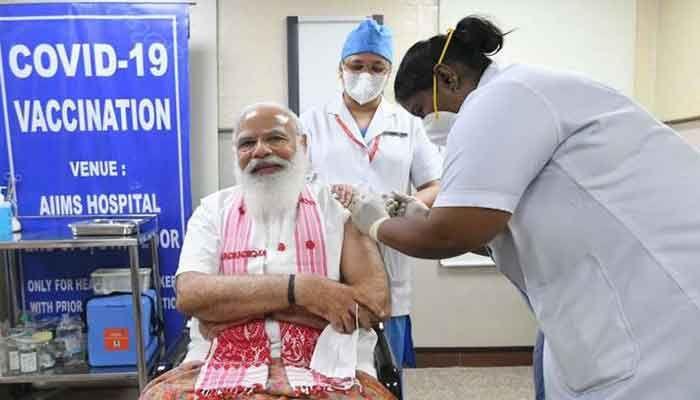 Modi Takes 1st Dose of COVID-19 Vaccine