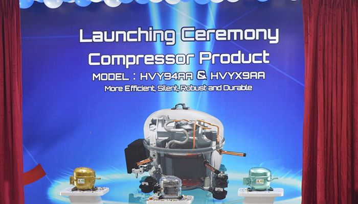 The launching ceremony of two new models of second generation compressor of Walton.