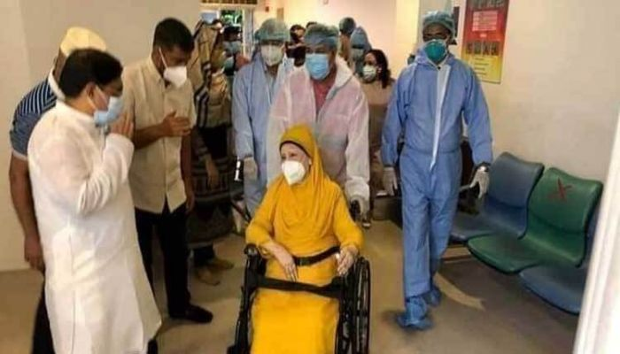 BNP chairperson Khaleda Zia in Evercare Hospital