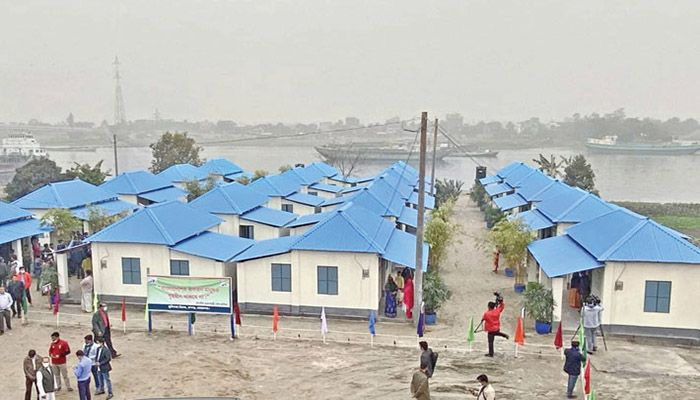 Each house has been built at a cost of Taka 200,000    Photo: Collected