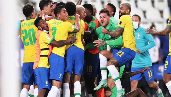 Brazil Nets Last-Gasp Goal to Beat Colombia at Copa America