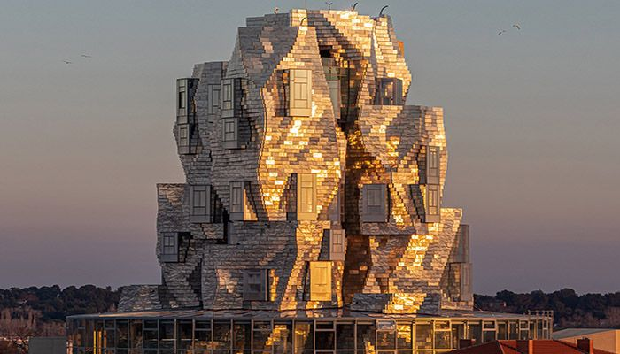 Gehry Tower in Arles, a tall, twisted tower created by Frank Gehry. || Photo: Collected