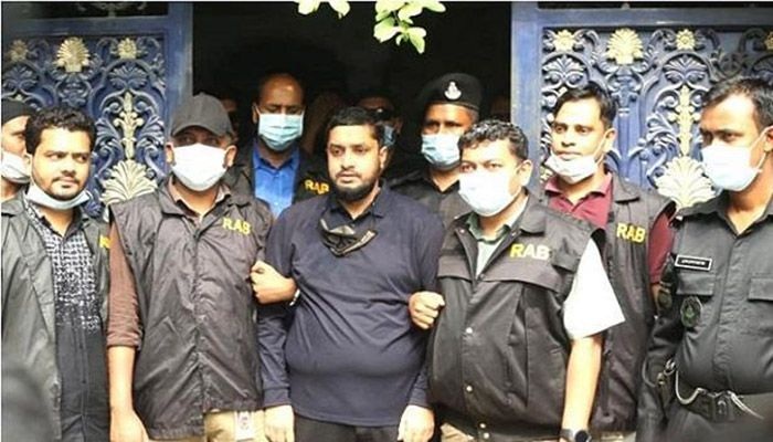 Last year on December 10, Golden Monir was sent to jail after being remanded for 27 days in three separate cases under the Arms, special powers and narcotics law.    Photo: Collected