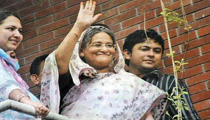 Sheikh Hasina was released from the special sub-jail set up on the premises of the Jatiya Sangsad (Parliament) Building. Photo: Collected