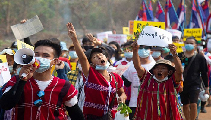 Myanmar has been in turmoil since the generals ousted civilian leader Aung San Suu Kyi on February 1.    Photo: Collected