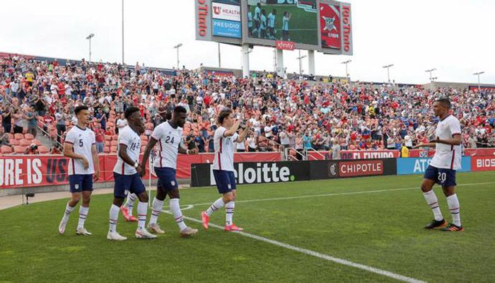 After a pulsating CONCACAF Nations final victory over Mexico on Sunday, Berhalter used Wednesday's friendly to cast an eye over his squad depth for the Gold Cup. || Photo: Collected