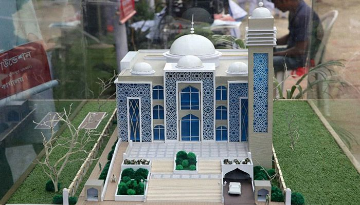 The Prime Minister opened the 50 model mosques virtually from her official residence Ganabhaban on the occasion of the Mujib Year. || Photo: Collected