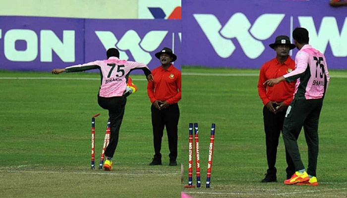 Shakib Seeks Apology after Misbehaving with Umpire in DPL Match