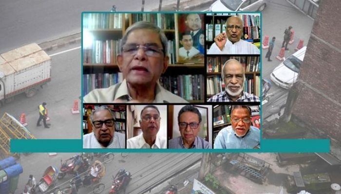 Mirza Fakhrul attended a virtual press conference. (Photo: Collected)