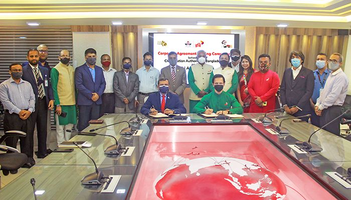 Robi Axiata Limited and Civil Aviation Authority of Bangladesh (CAAB), have recently signed a corporate agreement.
