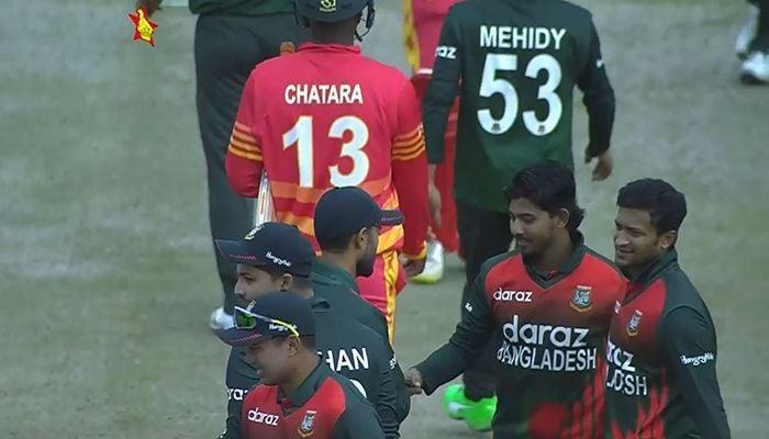 Bangladesh-Zimbabwe cricket team (Photo: Collected)