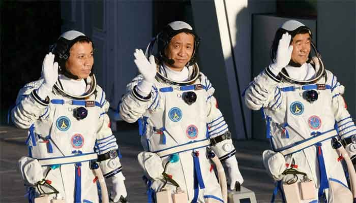 First Astronauts at China's New Space Station Conduct Spacewalk