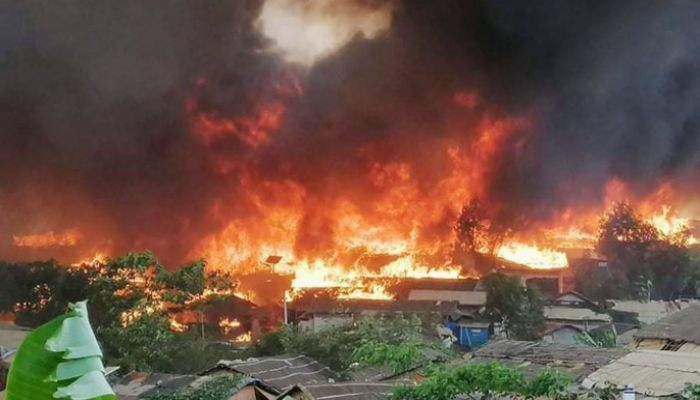 Fire Destroys 63 Shanties in Ukhiya Rohingya Camp