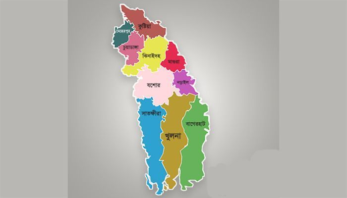 Khulna Division Map