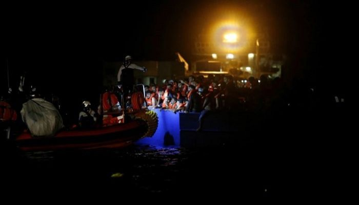394 migrants have been rescued from a dangerously overcrowded wooden boat in the Mediterranean (Photo: Collected)