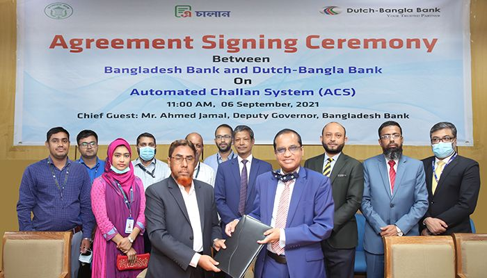 BB and Dutch-Bangla Bank Signed Agreement for Automated Challan System